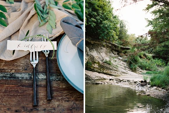 Natural and raw wedding styling ideas