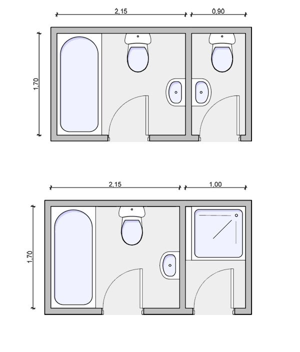 6x8 bathroom layout