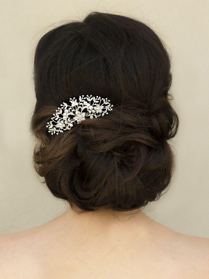 "Hair Comes the Bride - Classic Rhinestone Bridal Hair Comb ~ ""Nicolette"", $46.00 (http://www.haircomesthebride.com/classic-rhinestone-bridal-hair-comb-nicolette/)"