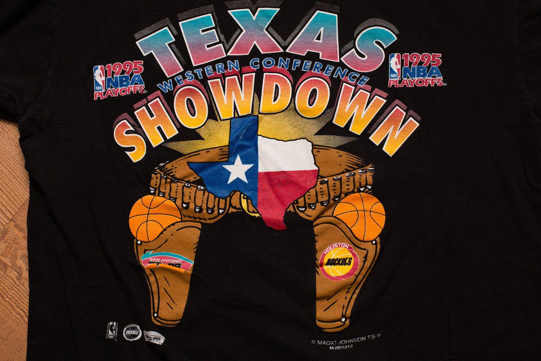 Vintage 90s Texas Showdown Rockets Vs Spurs T Shirt Spurs Spurs Shirt Rockets Basketball [ 1000 x 1500 Pixel ]