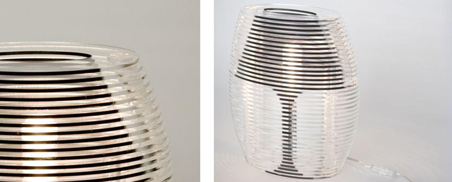 Studio Mango Products │Sliced Lamp Lighting Perspex normally has ...