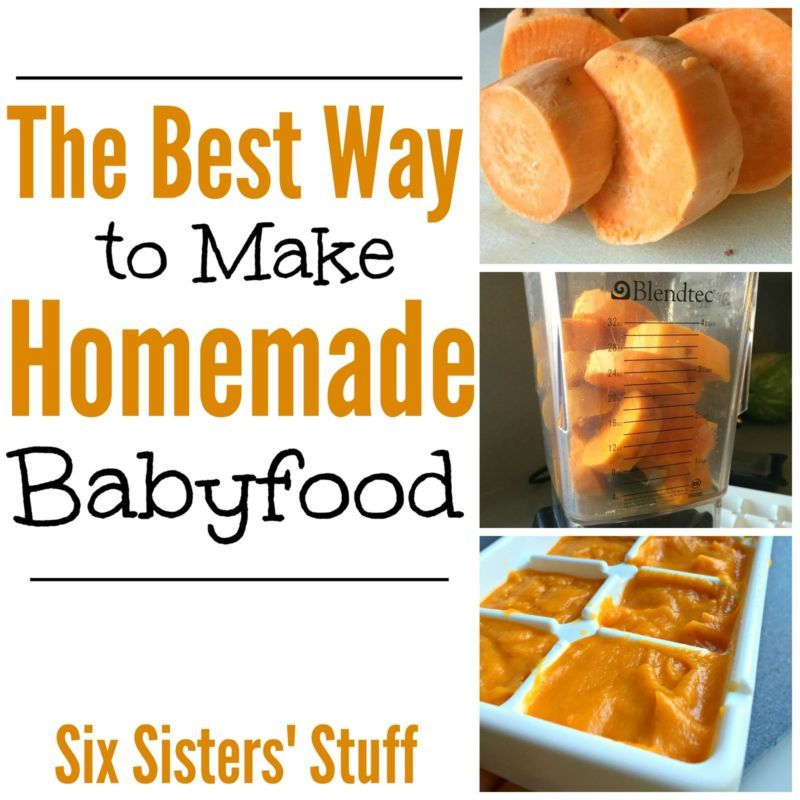 The Best Way To Make Homemade Baby Food Baby Food