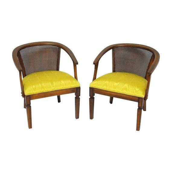 Mid Century Cane Barrel Chair Minnie Mouse Upholstered Uk Image Of Horseshoe Chairs A Pair 35th