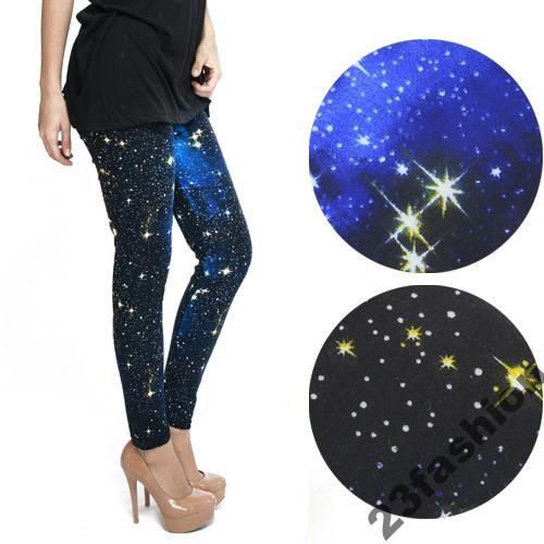Jeans Kosmos Star Legginsy Getry Rurki Galaxy Sweats Leginsy U4XP0zXq