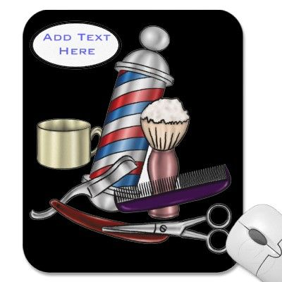Personalized Barber Supplies Mousepads