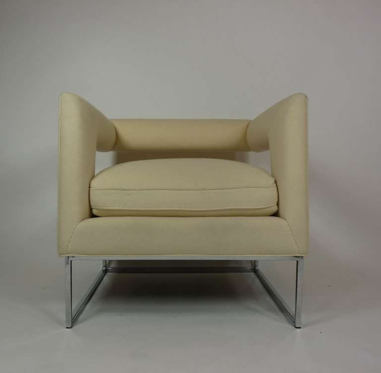Milo Baughman Open Back Lounge Chairs From A Unique Collection Of Antique And Modern