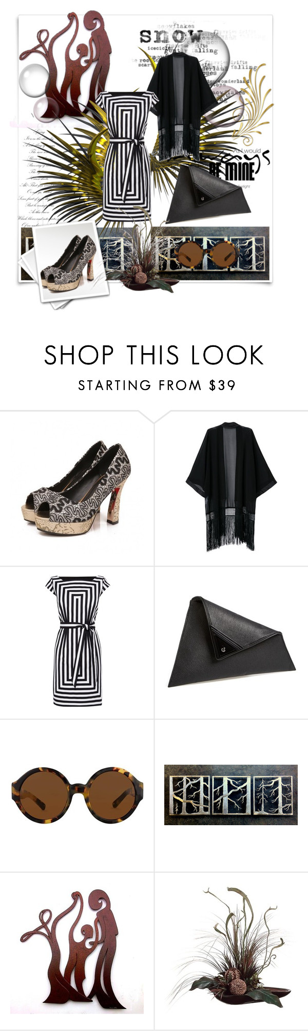 """""""Happy New Year!!!!"""" by allhqfashion ❤ liked on Polyvore featuring McGuire, Karen Millen, Sondra Roberts and Bernard Collin"""