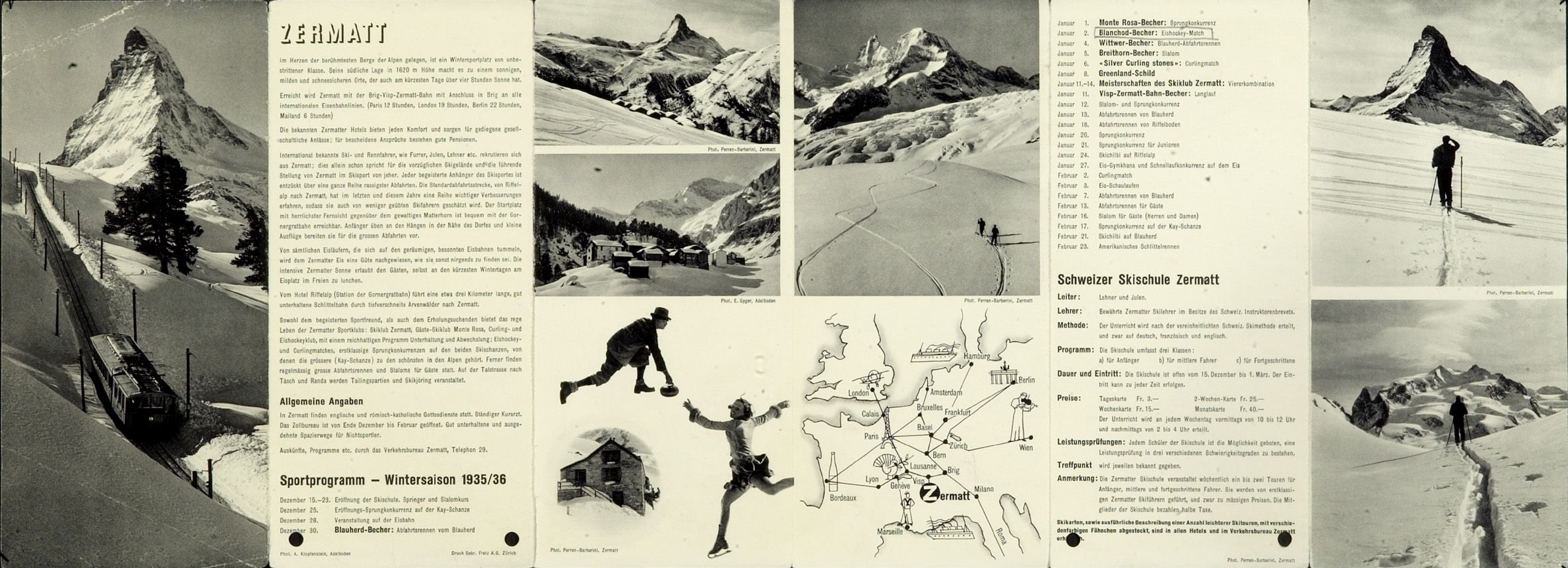 The winter season flyers in the 1930s