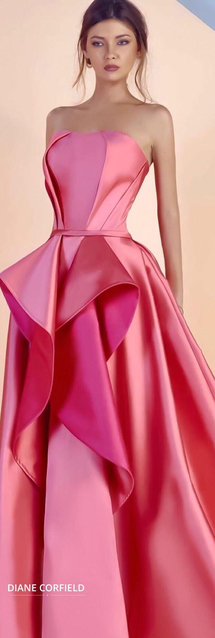 gorgeous pink gown | vestidos | Pinterest | Vestiditos, Alta costura ...
