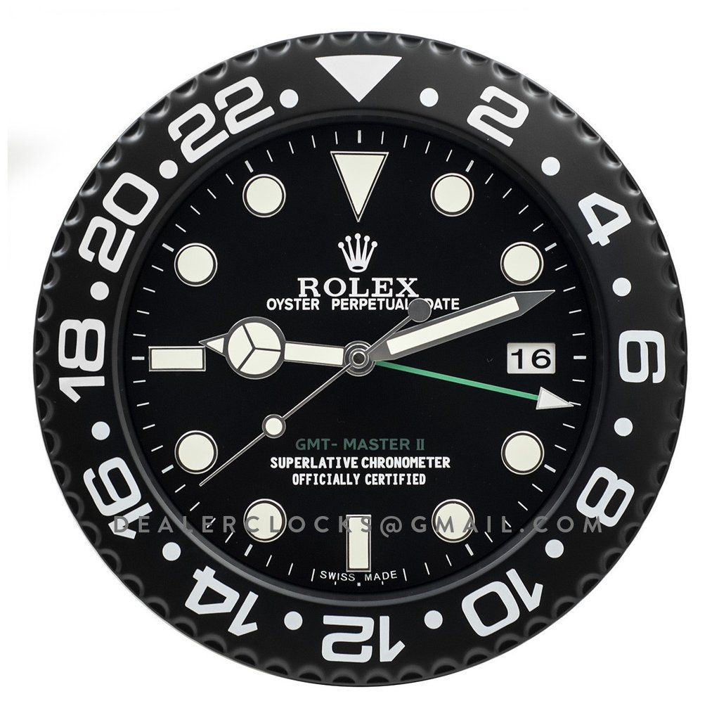 Gmt master ii series rx105 rolex gmt wall clocks and clocks dealer display wall clock based on the custom pro hunter black dlc 116710 rolex gmt master amipublicfo Images
