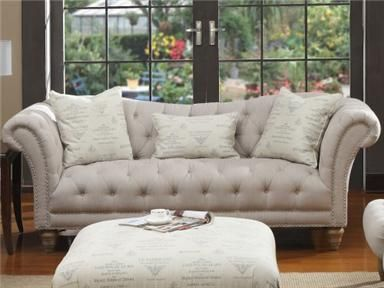 Just Ordered This Sofa Armless Chairs And Ottoman Love Emerald Home Furnishings Furniture Home
