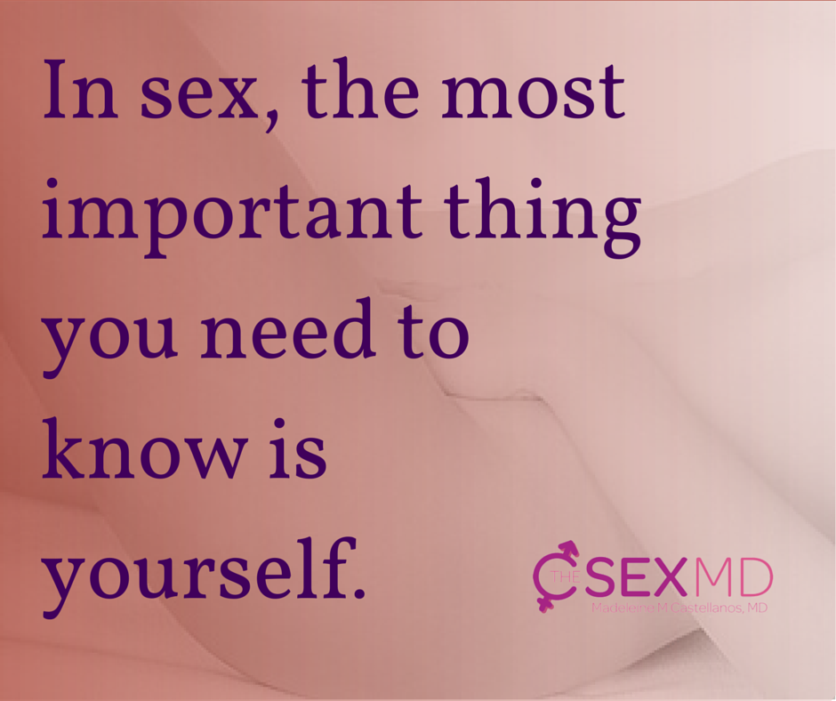 Get to know yourself sexually