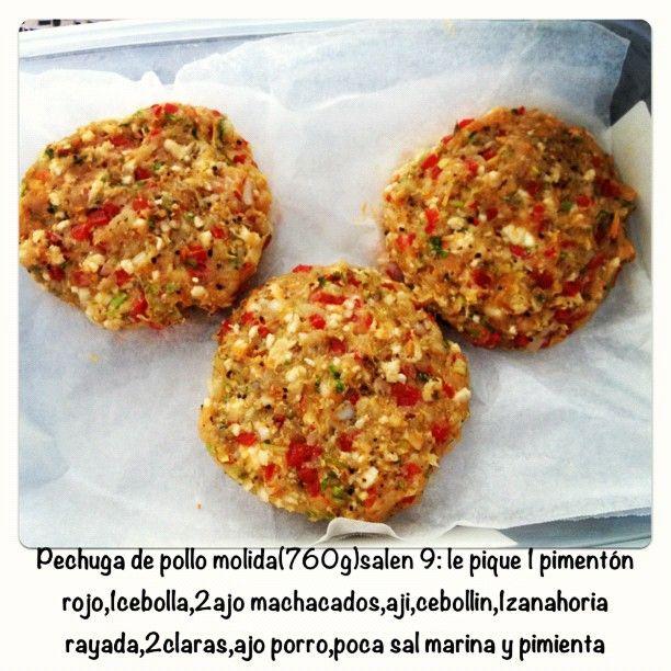 hamburguesas de pollo molido