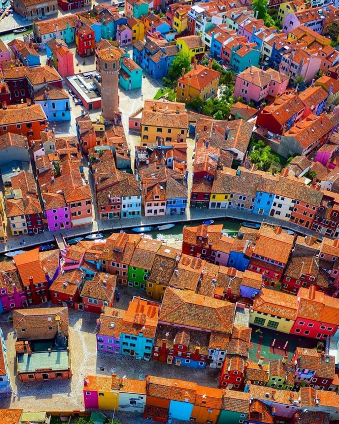 Photo of Aerial view of Burano ~ Venice, Italy