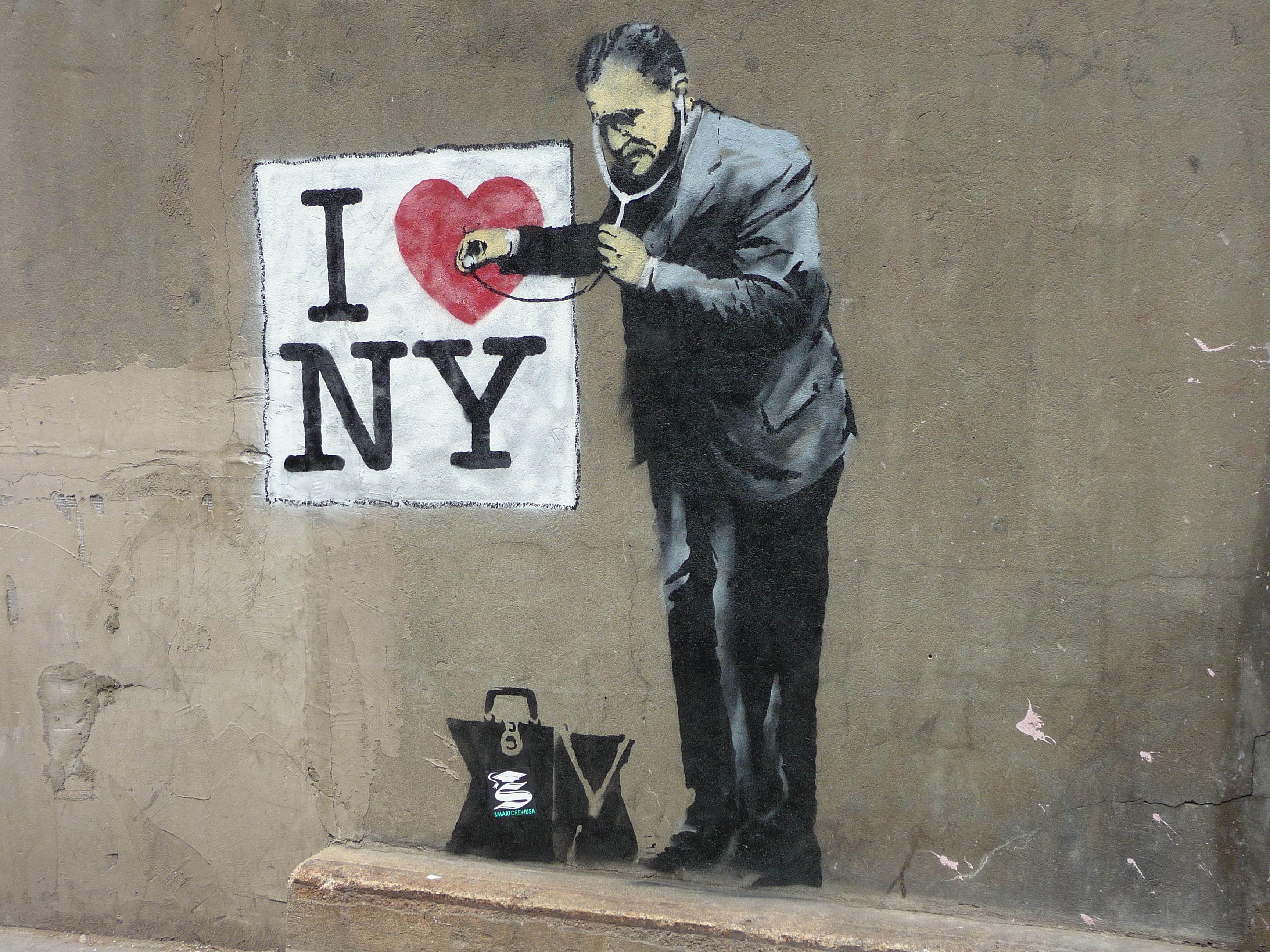 Banksy Visits New York Arte urbano banksy, Banksy