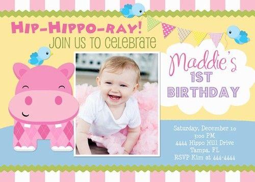 Little hippo 1st birthday invitations ebay charlotte pinterest little hippo 1st birthday invitations ebay filmwisefo