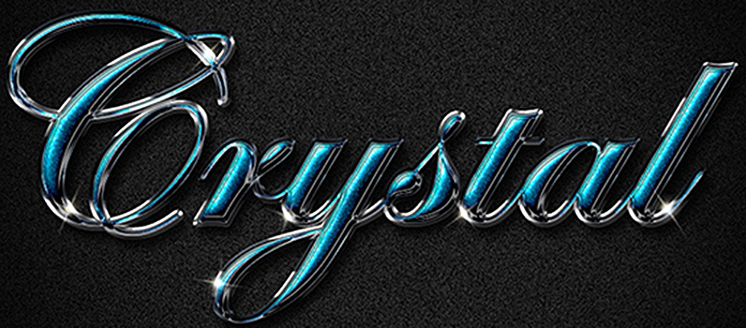 Create a Shiny, Posh Crystal Text Effect | Photoshop