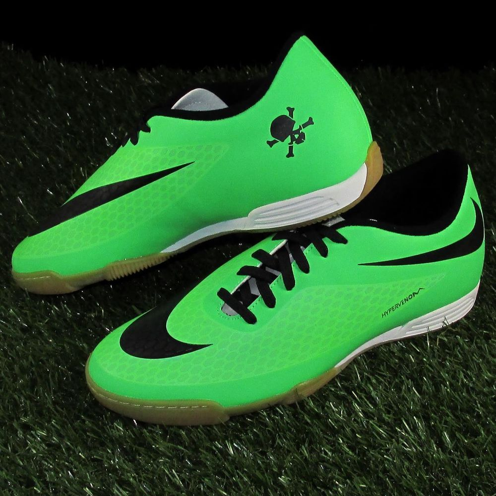 pretty nice bca16 2c36f Nike Hypervenom Phade Indoor Soccer Shoes Mens Size 8.5 Green Black  Nike   IndoorSoccerShoes