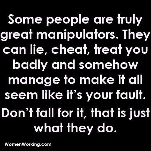 why do men manipulate women