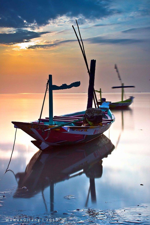 Sunrise Boats in Bali, Indonesia