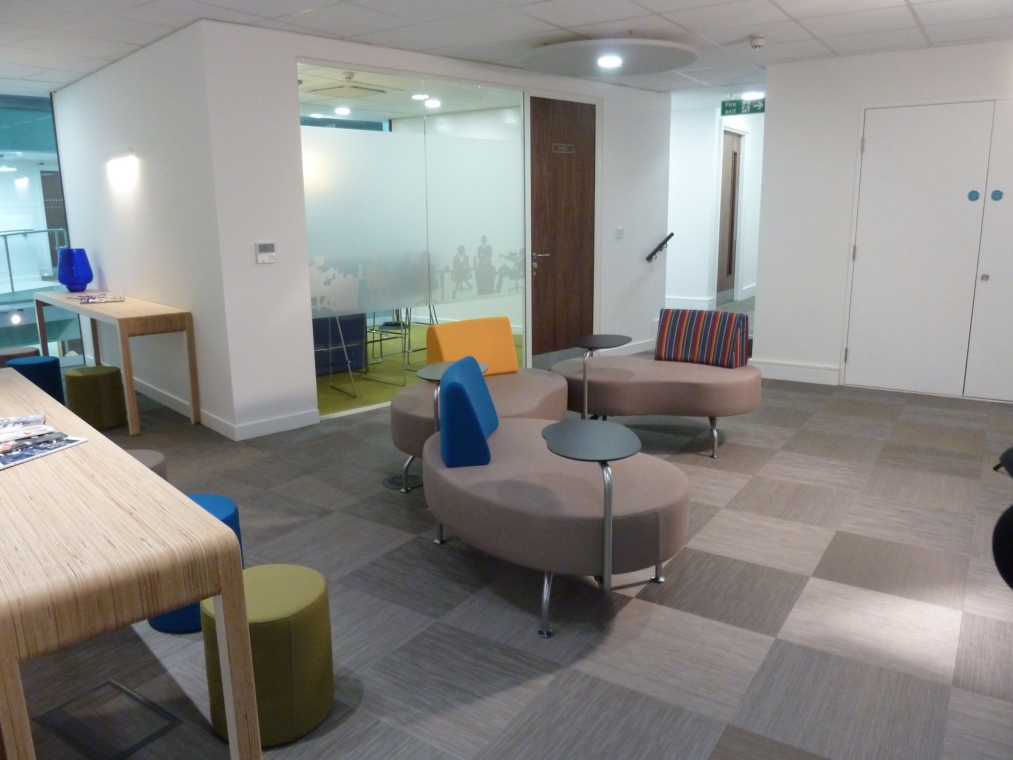Woven Vinyl Tiles Installed At Warwick Street In London For Cobban