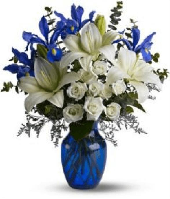 Expressive Blooms Blue Flower Arrangements Winter Floral Arrangements Winter Flowers