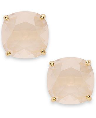Kate Spade New York Gold-Tone Light Pink Stone Stud Earrings