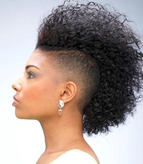 Trendy Mohawk Hairstyle For Black Women With Long Faces