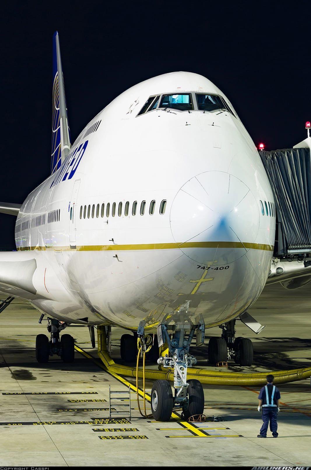 United Airlines Boeing 747422, N179UA in Shanghai, 2016
