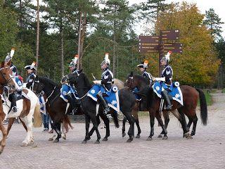 """Ere escorte van de KLPD """"De Clique"""" hield oefeningen op de Hoge Veluwe"""