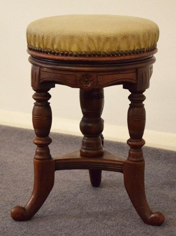 Awe Inspiring Victorian Piano Stool Wooden Stool Adjustable Stool Bar Ocoug Best Dining Table And Chair Ideas Images Ocougorg
