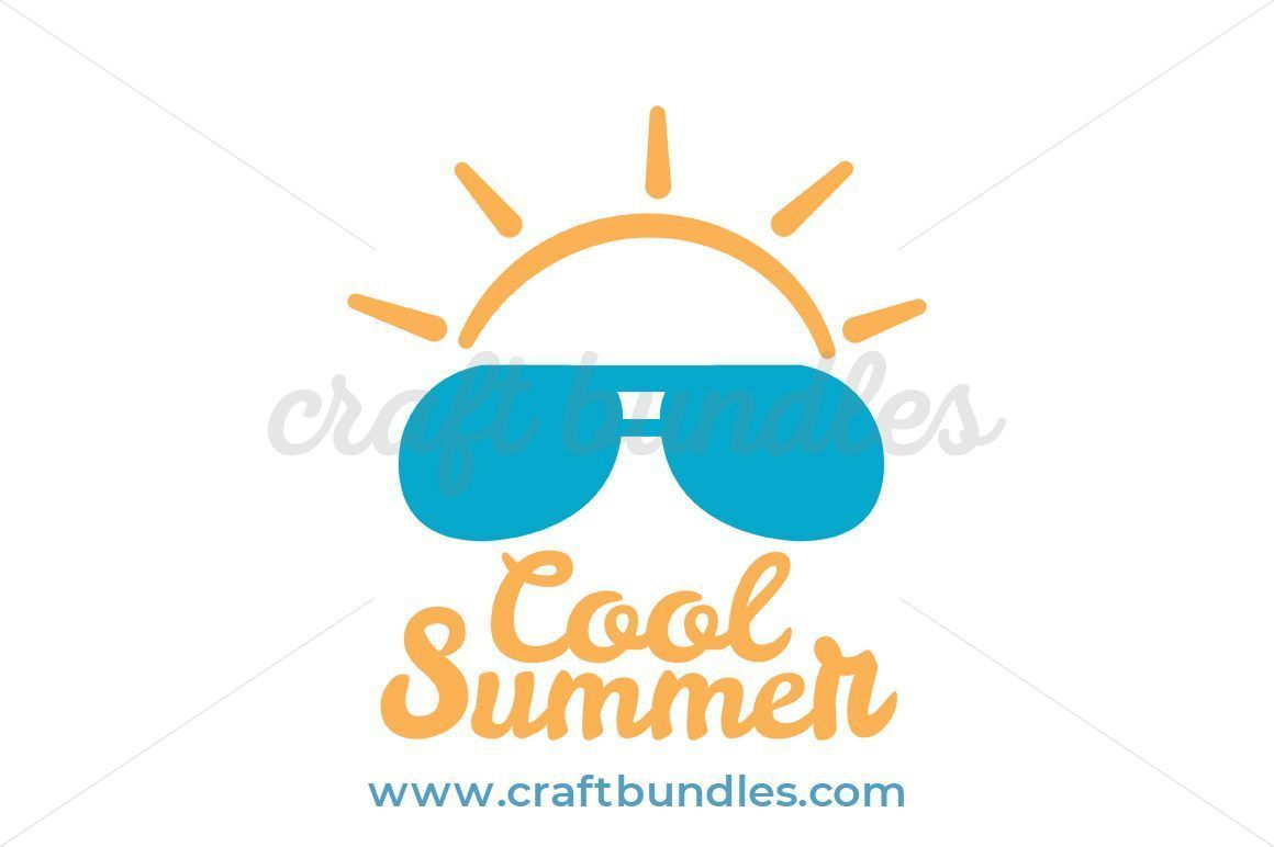 Cool summer. Svg cut file by