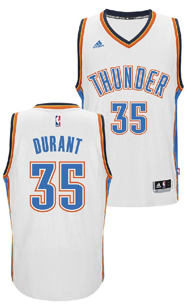 sports shoes b2835 9f60f Kevin Durant Youth Oklahoma City Thunder White Replica ...