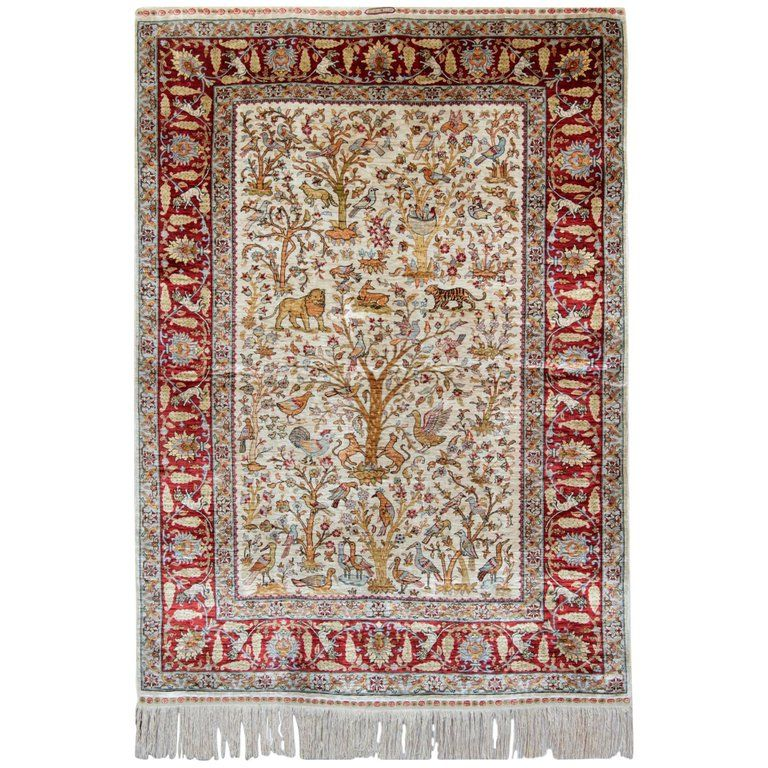 Pictorial Turkish Rugs Hereke Carpet