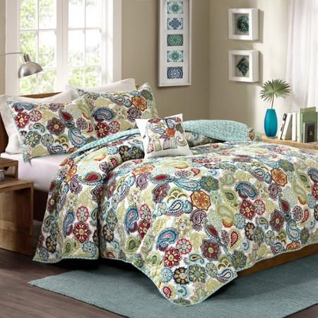 Better Homes And Gardens Paisley Quilt Set Walmart Com Home Better Homes And Gardens Better Homes Gardens