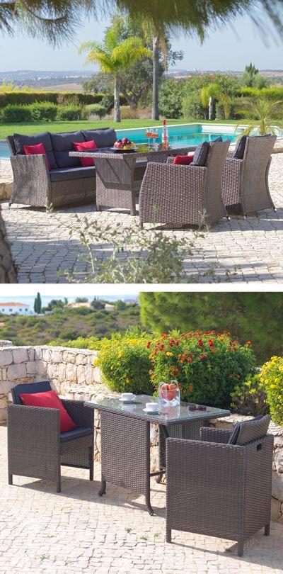 Lounge Möbel aus Rattan für den Garten Gartenmöbel Pinterest
