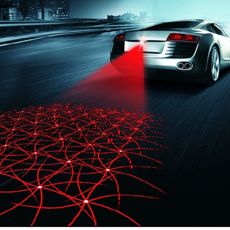 Car styling Multi shape Anti Collisione posteriore-end Auto della Coda del Laser led auto Luce di Nebbia 12 V Auto Freno auto Parcheggio auto Spia