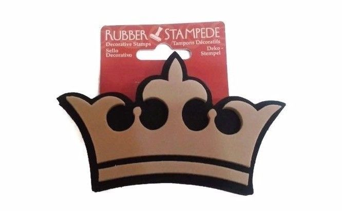 $3.99 Rubber Stampede #DecorativeStamp #Crown Deco #FoamRubberStamp #Stamps #RubberStamp #Craft #Crafts #RubberStampede #Border