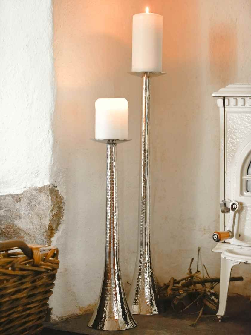 Trio of Metal Tea Light Cages on Stand with Bird Tea Lights