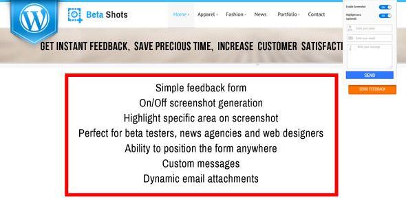 BetaShot - Feedback Form with Screenshot http\/\/codecanyonnet - customer feedback form