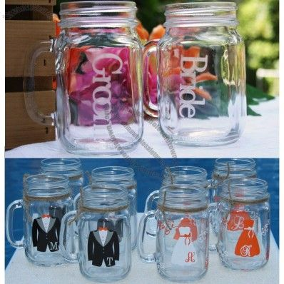 Country Mason Jar Drinking Gles Wedding Mug Whole China