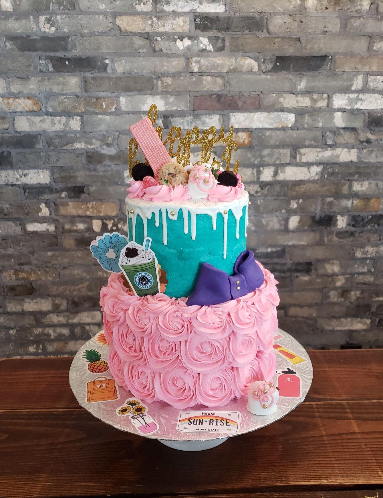 Vsco Girl Cake Summer Birthday Cake Birthday Party Cake Birthday Cake Girls