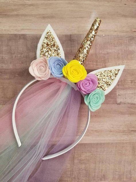 Child's Unicorn Headband | Unicorn Hair | Party Favor