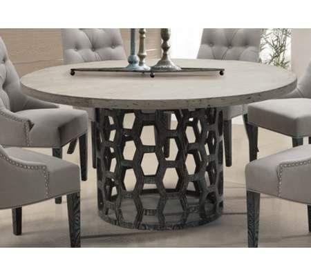 Centennial Gray Honeycomb Dining Table 55downingstreet Com