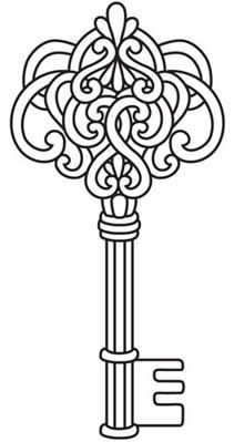 Enchanted Key Image Coloring Pages Embroidery Designs Embroidery Patterns