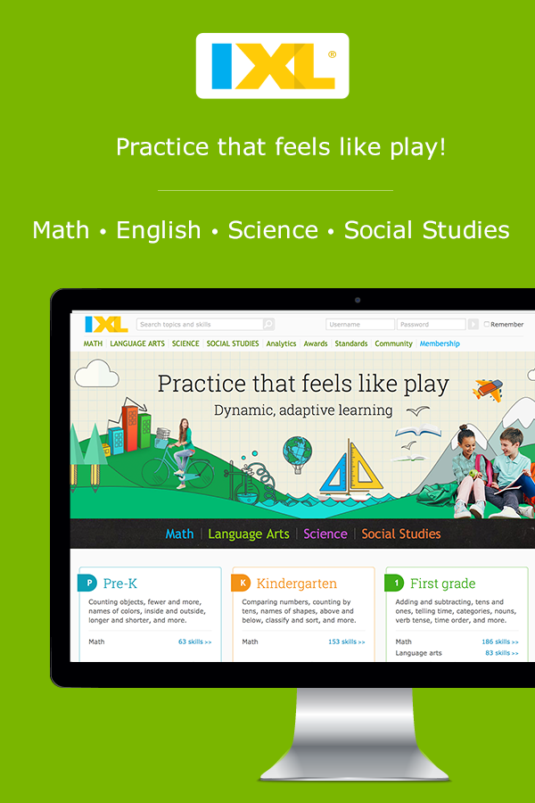 Online practice kids and students will love! K-12 math, English ...