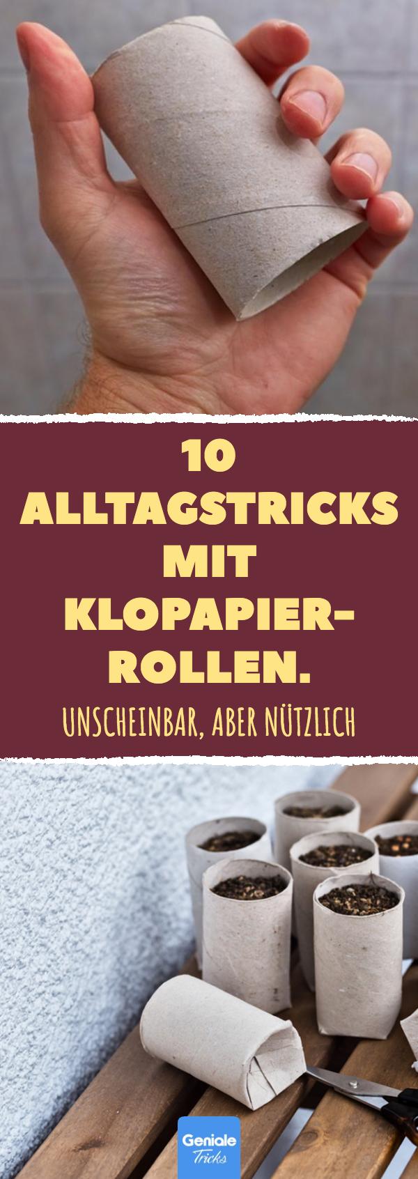 10 Alltagstricks mit Klopapierrollen. #diy #upcycling #bastelideen #toilettenpapier #life #hacks #klopapierrolle #basteln #toilettenpapier #klorolle #toiletpaperrolldecor