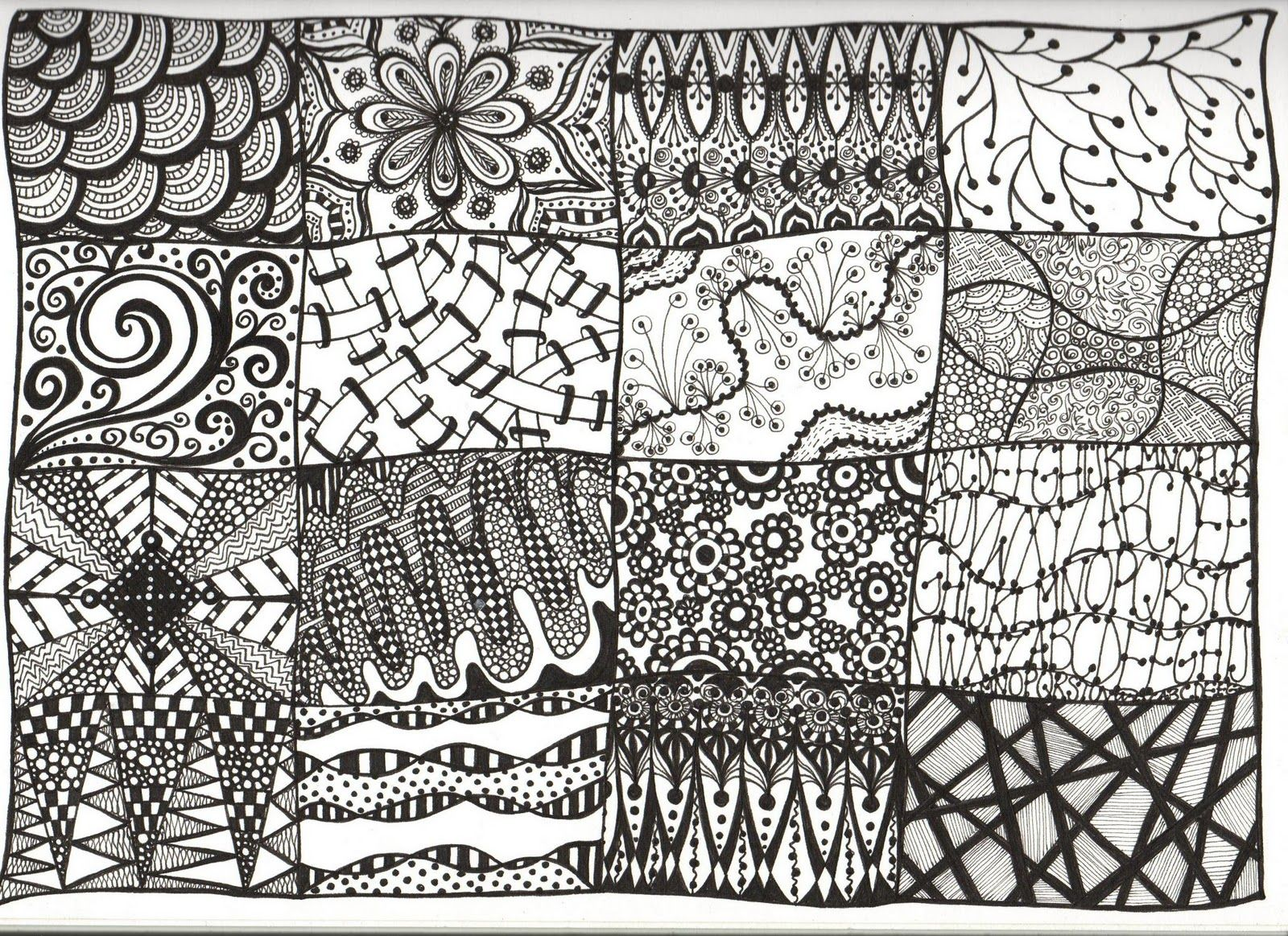 Creative zentangle designs zentangles a sampler this for Art drawing ideas for adults