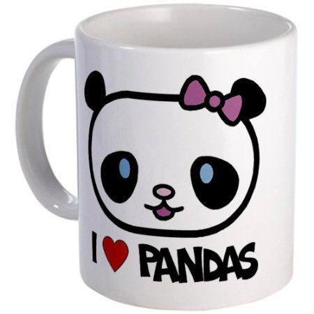 Amazon.com: I Love Pandas Mug Mug by CafePress: Home & Kitchen $15