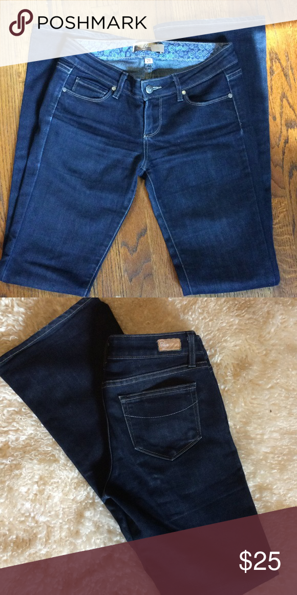"PAIGE jeans Excellent condition, super clean, stretch. 32""inseam. Paige Jeans Jeans Boot Cut"